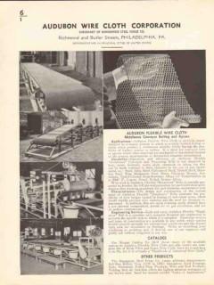 Audubon Wire Cloth Corp 1936 Vintage Catalog Metalwove Conveyor Belt