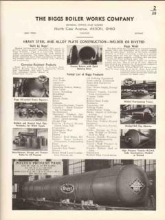 Biggs Boiler Works Company 1936 Vintage Catalog Heavy Steel Plate