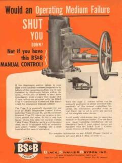 Black Sivalls Bryson Inc 1954 Vintage Ad Oil Operating Medium Failure