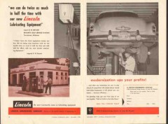lincoln engineering co 1956 bryants gulf service station vintage ad