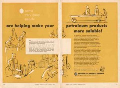 Universal Oil Products Company 1956 Vintage Ad Petroleum Salable Help