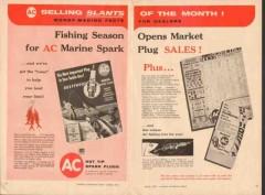 ac spark plug 1957 fishing season marine rustproof plugs vintage ad