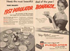 purolator products inc 1957 fear strikes out norma moore vintage ad