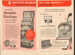 ac spark plug 1957 bargain package t-3 headlamp business vintage ad