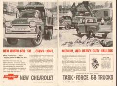 chevrolet 1957 light med heavy-duty hauler truck rudy pott vintage ad