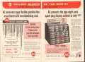 ac spark plug 1957 eight-pack display cabinet flex gas line vintage ad