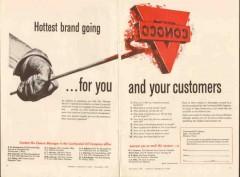 continental oil company 1957 conoco hottest brand customers vintage ad