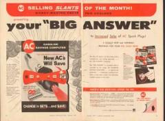 ac spark plug 1957 big answer increased sales program vintage ad