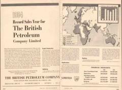 British Petroleum Company 1955 Vintage Ad Crude Oil Record Sales Year
