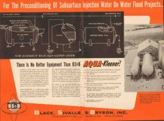 Black Sivalls Bryson Inc 1955 Vintage Ad Oil Subsurface Injection