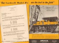 Howard Parker Company 1955 Vintage Ad Oil Field Rig Cardwell Model D