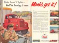 mack trucks 1955 manufacturer new line heavy-duty since ww2 vintage ad