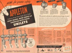 Appleton Electric Company 1955 Vintage Ad Unilet Greater Safety