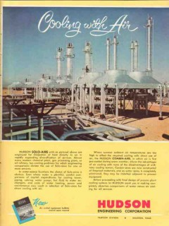 Hudson Engineering Corp 1955 Vintage Ad Solo-Aire Cooling Air Heat