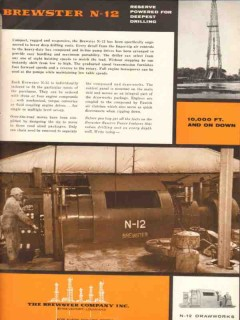 Brewster Company 1955 Vintage Ad Oil Petroleum Drilling Engine N-12