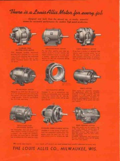 louis allis company 1937 size type electric motor industry vintage ad