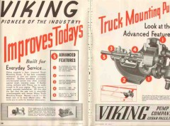 viking pump company 1937 oil truck mount advanced features vintage ad