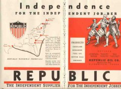 Republic Oil Company 1937 Vintage Ad Independence Supplier Jobber