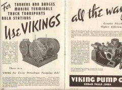 Viking Pump Company 1937 Vintage Ad Oil Tankers Barges Terminal Trucks