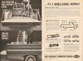 chevrolet 1962 beating inside outside double strong trucks vintage ad