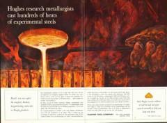 Hughes Tool Company 1962 Vintage Ad Oil Field Rock Bits Metallurgists