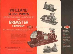 Brewster Company 1962 Vintage Ad Oil Equipment Wheland Slush Pump