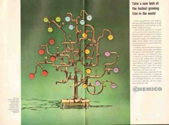 Chemical Construction Corp 1962 Vintage Ad Chemico Fast Growing Tree