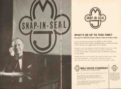 M J Valve Company 1962 Vintage Ad Oil M H Red Grove Snap-In-Seal