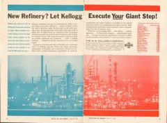 M W Kellogg Company 1962 Vintage Ad Oil Refinery Execute Giant Step