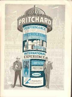 J F Pritchard Company 1962 Vintage Ad Petroleum Chemical Performance
