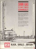 Black Sivalls Bryson Inc 1962 Vintage Ad Oil Sour Gas Sweet Profits