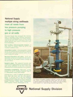 Armco Steel Corp 1962 Vintage Ad Oil National Supply String Wellheads