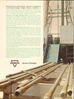 Armco Steel Corp 1962 Vintage Ad Spang Drill Pipe Tool Joints Buttress