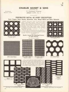 Charles Mundt Sons 1936 Vintage Catalog Metal Steel Brass Perforated