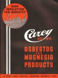 Philip Carey Company 1936 Vintage Catalog Asbestos Magnesia Products