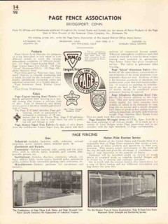 Page Fence Association 1936 Vintage Catalog Chain Link Wrought Iron