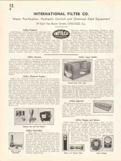 International Filter Company 1936 Vintage Catalog Infilco Products