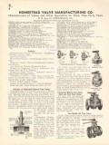 Homestead Valve Mfg Company 1936 Vintage Catalog Quarter Turn 2-Handle