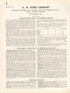 A M Byers Company 1936 Vintage Catalog Genuine Wrought Iron Tubular