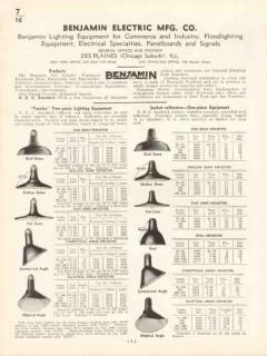 Benjamin Electric Mfg Company 1936 Vintage Catalog Lighting Equipment