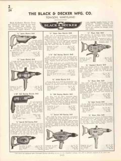 Black Decker Mfg Company 1936 Vintage Catalog Electric Drill Grinder