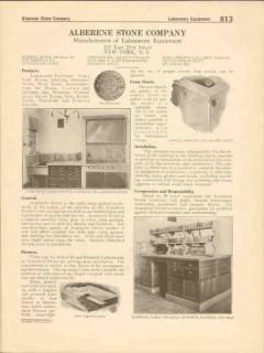 Alberene Stone Company 1916 Vintage Catalog Lab Equipment Fixtures