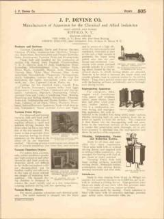 J P Devine Company 1916 Vintage Catalog Vacuum Chamber Drum Dryer