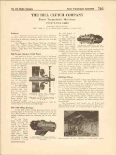 Hill Clutch Company 1916 Vintage Catalog Friction Smith Collar Bearing