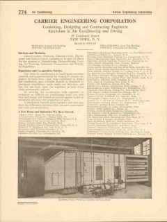 Carrier Engineering Corp 1916 Vintage Catalog Air Conditioning Drying