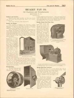 Bicalky Fan Company 1916 Vintage Catalog Air Washer Ventilator Blower