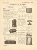 International Filter Company 1916 Vintage Catalog Water Softening