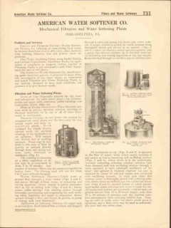 American Water Softener Company 1916 Vintage Catalog Mechanical Filter
