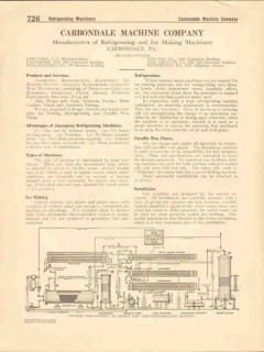 Carbondale Machine Company 1916 Vintage Catalog Refrigerating Ice