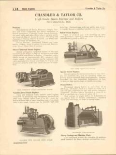 Chandler Taylor Company 1916 Vintage Catalog Steam Engines Boilers